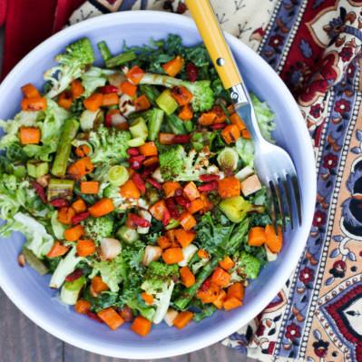 Ensalada de Vegetales Rustidos vegana
