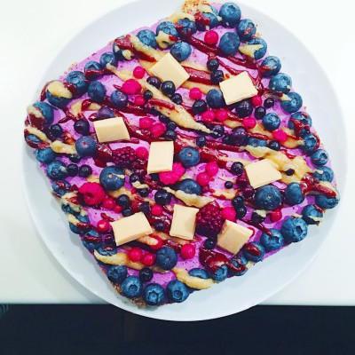 Cheesecake de Arándanos Crudivegana